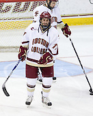 Brian Gibbons (BC - 17), Cam Atkinson (BC - 13) - The Boston College Eagles defeated the University of Massachusetts-Amherst Minutemen 2-1 (OT) on Friday, February 26, 2010, at Conte Forum in Chestnut Hill, Massachusetts.