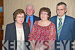 Pictured at the Kerry Pioneer Social in the Heights Hotel, Killarney on Friday night were Mary and Jerry McCarthy, Rathmore with Marie and Coleman O'Sullivan, Castlemaine.