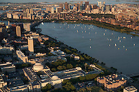 MIT campus. Cambridge and Boston, aerial,  MA