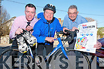 Pictured on Monday at the launch of the Rose Dewathlon, taking place in Tralee Rugby Club on Sunday, 13th May, from left: Tom Quilter, Jerry Quinlan and Ted Moynihan
