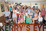 Deirdre & Gerard Curran seated front centre from Waterville celebrated their 25th wedding anniversary with family and friends at The Butler Arms Hotel Waterville on Saturday night last.