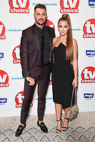 LONDON, UK. September 10, 2018: Sam Bird &amp; Georgia Steel at the TV Choice Awards 2018 at the Dorchester Hotel, London.<br /> Picture: Steve Vas/Featureflash