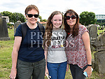 Joan McQuillan, Ciara and Ann McVeigh at the open day at Cord Cemetery. Photo:Colin Bell/pressphotos.ie