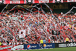 13 June 2009: DC fans throw streamers as the game begins. DC United defeated the Chicago Fire 2-1 at RFK Stadium in Washington, DC in a regular season Major League Soccer game.