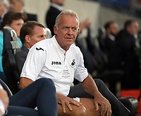 Alan Curtis of Swansea sits in the dug out during the Swansea Legends v Manchester United Legends at The Liberty Stadium, Swansea, Wales, UK. Wednesday 09 August 2017