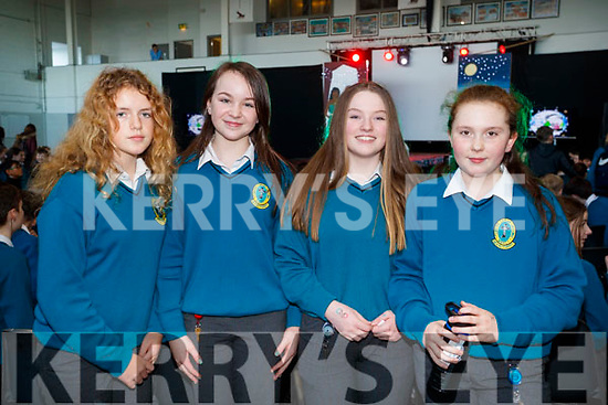 Geraldine Cassidy, Róisín Reidy, Chloe Hennebery and April Mahony, pictured at Mercy Mounthawk Secondary School Fashion Show held at the School Gym on Wednesday last.