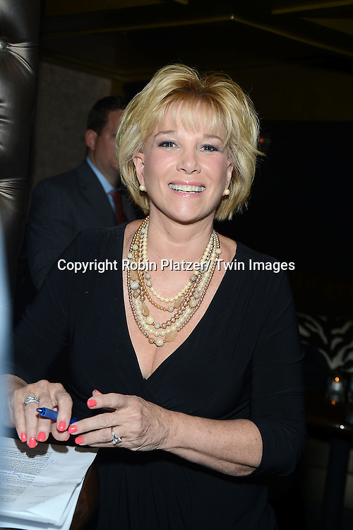 Joan Lunden attends The National Law Enforcement & Firefighters First Annual Children's Foundation Hero Awards Gala honoring John T Chambers , CEO of Cisco and the Honorable Rudolph Giuliani on September 23, 2013 at  Edison Ballroom in New York City.