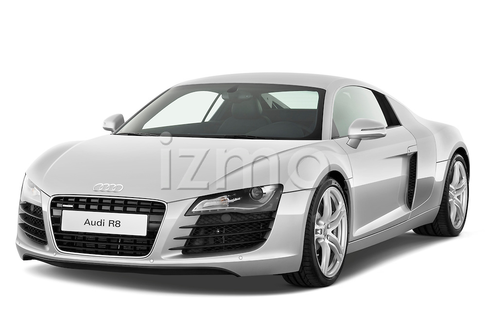 Front three quarter view of a 2008 - 2012 Audi R8 V8 FSI Coupe.