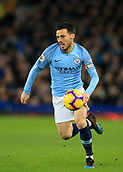 6th February 2019, Goodison Park, Liverpool, England; EPL Premier League Football, Everton versus Manchester City; David Silva of Manchester City chases a pass over the Everton defence
