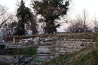 A view of the ancient theater in the archeological park of Tuscolo. Digitally Improved Photo.