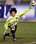 11 November 2005: North Carolina goalkeeper Justin Hughes. The University of North Carolina defeated Clemson University 2-0 at SAS Stadium in Cary, North Carolina in a semifinal of the 2005 ACC Men's Soccer Championship.