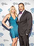 David Otunga and Kelly Kelly at the Time Warner Media Cabletime Upfront media event held at the Private Social Restaurant in Dallas, Texas.