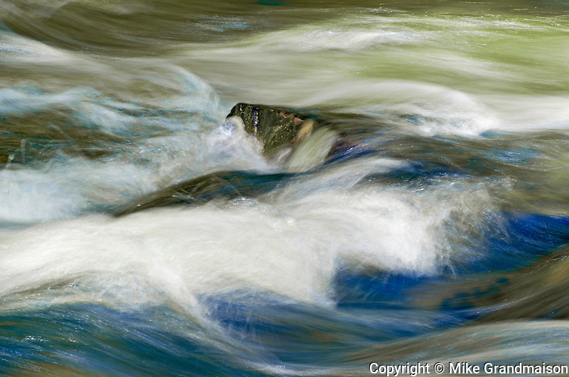 Detail of rocks and water in Rushing River <br /> Rushing River Provincial Park<br /> Ontario<br /> Canada