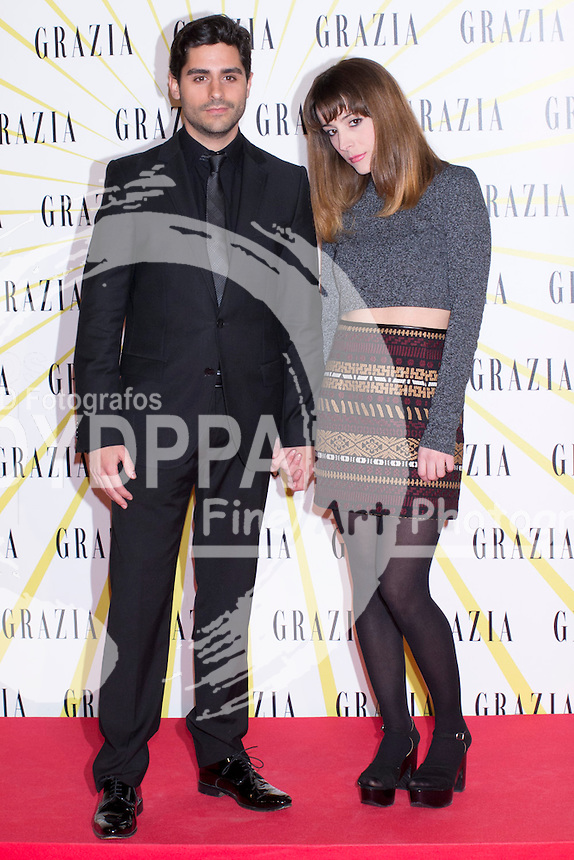 12.02.2013. Circo Price. Madrid. Spain. Celebrities attend the Party for the new magazine 'Grazia'. In the image: Miguel Diosdado and Clara Blazquez. (C) Ivan L. Naughty / DyD Fotografos//