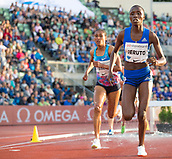 June 15th 2017, Bislett Stadion , Oslo, Norway; Diamond League Oslo Bislett Games;  Norah Jeruto of Kenya competes in the ladies 3000m steeplechase during the IAAF Diamond League held at the Bislett Stadium