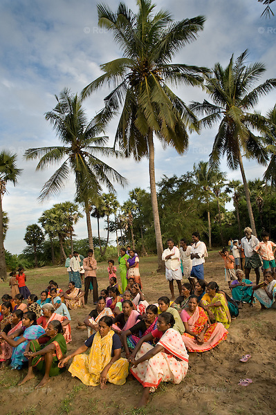Villagers in Kurnool village, Krishna district, Andhra Pradesh, receive Red Cross supplies of food, clothing and other essentials after suffering one of the worst floods in 100 years.<br /> <br /> Nearly 400 people died in this district and neighbouring Karnataka, and more than 500,000 were displaced.