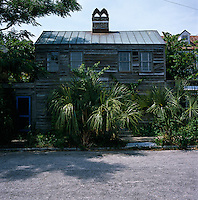 Exterior of the clapboard house originally built for 'Freed Persons of Colour' in South Carolina, USA