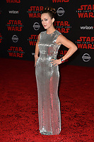 "Billie Lourd at the world premiere for ""Star Wars: The Last Jedi"" at the Shrine Auditorium. Los Angeles, USA 09 December  2017<br /> Picture: Paul Smith/Featureflash/SilverHub 0208 004 5359 sales@silverhubmedia.com"