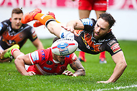 Picture by Alex Whitehead/SWpix.com - 19/03/2017 - Rugby League - Betfred Super League - Salford Red Devils v Castleford Tigers - AJ Bell Stadium, Salford, England - Castleford's Luke Gale scores a try.