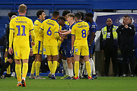 Tempers flare in the second half during Chelsea Under-21 vs AFC Wimbledon, Checkatrade Trophy Football at Stamford Bridge on 4th December 2018