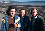Bee Gees 1976 Barry Gibb, Maurice Gibb and Robin Gibb on the Isle Of Man..© Chris Walter..