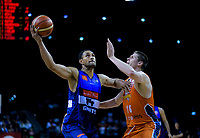 Mika Vukona in action during the national basketball league semifinal match between Nelson Giants and Southland Sharks at TSB Bank Arena in Wellington, New Zealand on Saturday, 4 August 2018. Photo: Dave Lintott / lintottphoto.co.nz