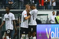 celebrate the goal, Torjubel zum 1:0 von Ante Rebic (Eintracht Frankfurt) mit Sebastian Haller (Eintracht Frankfurt)- 30.09.2017: Eintracht Frankfurt vs. VfB Stuttgart, Commerzbank Arena