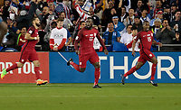San Jose, CA - March 24, 2017: The U.S. Men's National team go up 5-0 over Honduras in first half action from a goal by Clint Dempsey during their 2018 FIFA World Cup Qualifying Hexagonal match at Avaya Stadium.