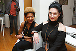 Staff pose at the Murray West Fall Winter 2016 capsule collection fashion presentation by Jerrell West, in Contra Studios at 122 West 26 Street in New York City, on May 19, 2016.