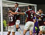 Goalscorer Jeff Hendrick of Burnley celebrates with Stephen Ward of Burnley during the Premier League match at Turf Moor Stadium, Burnley. Picture date: September 26th, 2016. Pic Simon Bellis/Sportimage