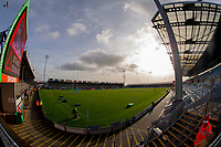 A general view of Sandy Park, home of Exeter Chiefs<br /> <br /> Photographer Bob Bradford/CameraSport<br /> <br /> Gallagher Premiership Round 10 - Exeter Chiefs v Saracens - Saturday 22nd December 2018 - Sandy Park - Exeter<br /> <br /> World Copyright &copy; 2018 CameraSport. All rights reserved. 43 Linden Ave. Countesthorpe. Leicester. England. LE8 5PG - Tel: +44 (0) 116 277 4147 - admin@camerasport.com - www.camerasport.com