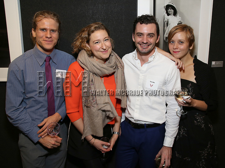 Matt Patterson, Sophie von Haselberg, Dustin Wills and Kate Tarker attends the Vineyard Theatre's Annual Emerging Artists Luncheon at The National Arts Club on June 6, 2017 in New York City.