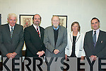 NOBEL WINNER: Winner of the Nobel Prize for Economics, Sir Clive Granger (centre) at Mercy Mounthawk Secondary School, Tralee on Monday last, with l-r: Sean Geary, John O'Roarke (Principal), Margot O'Carroll and Michael Carmody (President of IT Tralee).   Copyright Kerry's Eye 2008