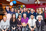 Eamonn Murphy, seated 3rd Rt, from Cloghane was delighted to have President Michael D Higgins ( Eithne Griffin) seated Rt drop in to Katty's bar Brandon last Saturday night for his 70th birthday celebration along with many friends and family.