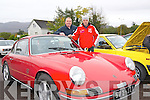 Brothers Dennis and James O'Brien with their 1963 Porsche 912 at the Charity Car Run in aid of the Kerry/Cork Health Link Bus at The Brehon last Sunday.