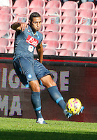 Faouzi Ghoulan    in action during the Italian Serie A soccer match between   SSC Napoli and Empolii    at San Paolo   stadium in Naples , December 07, 2014