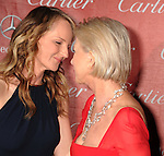 PALM SPRINGS, CA - JANUARY 05: Helen Hunt and Dame Helen Mirren arrive at the 24th Annual Palm Springs International Film Festival - Awards Gala at the Palm Springs Convention Center on January 5, 2013 in Palm Springs, California