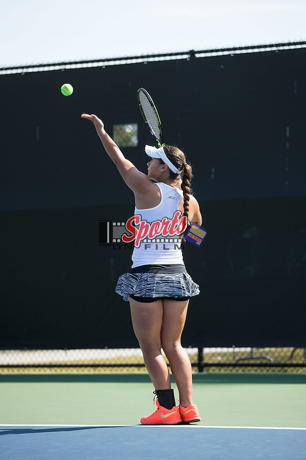 Joanna Zalewski of the Wake Forest Demon Deacons during singles action in the Wake Forest Invitational at the Wake Forest Tennis Center on October 9, 2015 in Winston-Salem, North Carolina.  (Brian Westerholt/Sports On Film)