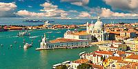 The punta della doganaand  Santa Maria della Salute on the Giudecca Canal, Venice Italy