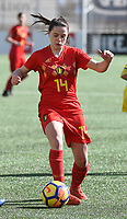 20180326 - ZALTBOMMEL , THE NETHERLANDS : Belgian Constance Brackman pictured during the UEFA Women Under 17 Elite round game between Belgium WU17 and Romania WU17, on the second matchday in group 1 of the Uefa Women Under 17 elite round in The Netherlands , monday 26 th March 2018 . PHOTO SPORTPIX.BE    DIRK VUYLSTEKE