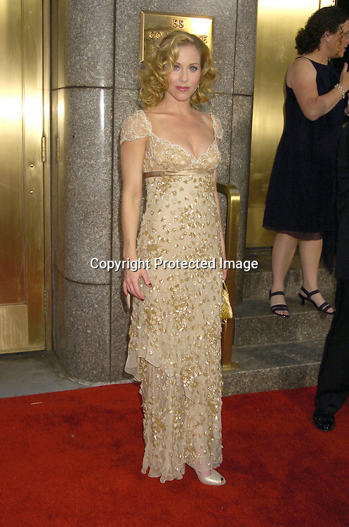 Christina Applegate ..arriving at the 59th Annual Tony Awards on June 5, 2005 at ..Radio City Music Hall. ..Photo by Robin Platzer, Twin Images