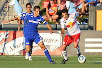 Sinisa Ubiparipovic #8, Davy Arnaud...Kansas City Wizards were defeated 3-0 by New York Red Bulls at Community America Ballpark, Kansas City, Kansas.