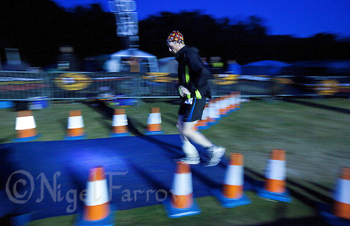 11 JUN 2011 - BRANSGORE, GBR - Gerry Duffy completes another run lap on day 9 of the Deca Enduroman at the Enduroman Ultra Triathlon Championships (PHOTO (C) NIGEL FARROW)