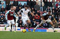 Pictured: Alejandro Pozuelo of Swansea. 01 February 2014<br /> Re: Barclay's Premier League, West Ham United v Swansea City FC at Boleyn Ground, London.