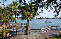 One block from downtown The Fort Walton Landing is a city park on the edge of Santa Rosa Sound...COLIN HACKLEY PHOTO