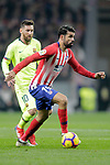 Club Atletico de Madrid's Diego Costa and Futbol Club Barcelona's Leo Messi (L)  during La Liga match. November 24,2018. (ALTERPHOTOS/Alconada)