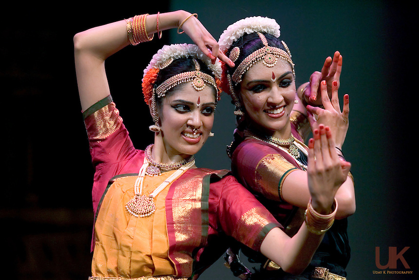 Namratha & Pranetha during their Arangetram in Eisemann Center in Richardson, Texas