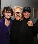 Beth Leavel, Ken Fallin and Stanley Steinberg attends the Dramatists Guild Fund Salon with Matthew Sklar and Chad Beguelin at the home of Gretchen Cryer on December 8, 2016 in New York City.