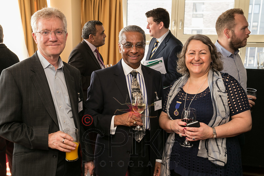 Pictured from left are Martin Hall of Halls Locksmiths, Nat Parmar of Inpartnership Financial Advisors and Deborah Labbate