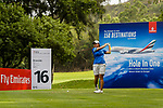 Punpaka Phuntumabamrung of Thailand prepares for tee off during the first round of the EFG Hong Kong Ladies Open at the Hong Kong Golf Club Old Course on May 11, 2018 in Hong Kong. Photo by Marcio Rodrigo Machado / Power Sport Images
